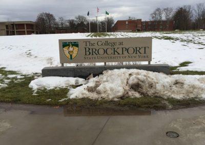 Exterior Non Illuminated Sign Brockport State College