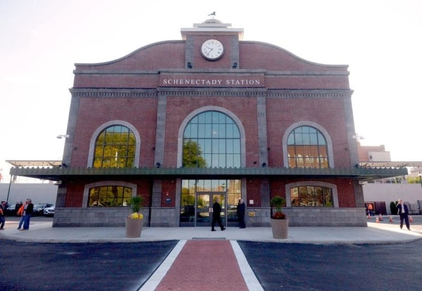 Exterior Sign Amtrak Train Station