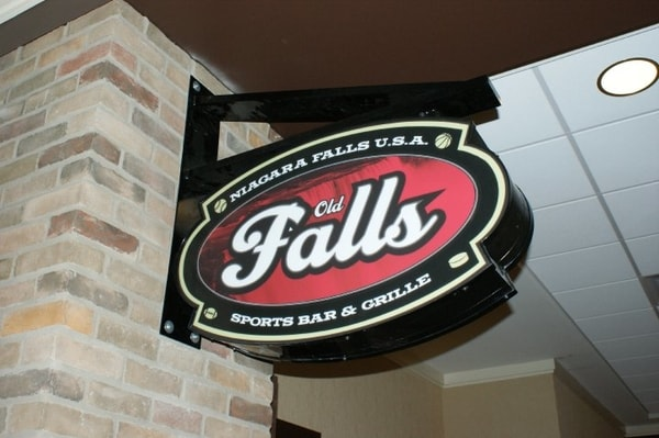 N-186 Falls aluminum Blade Sign Interior Signs Corporate Branding Niagara Falls, NY Niagara County, NY businesses Restaurant