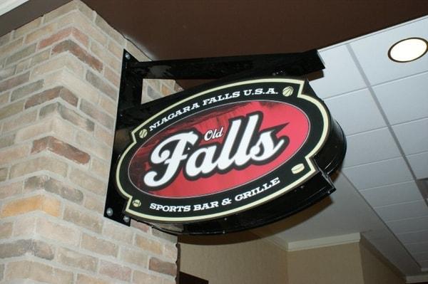 N-186 Falls aluminum Blade Sign Interior Signs Corporate Branding Niagara Falls, NY Niagara County, NY businesses Restaurant