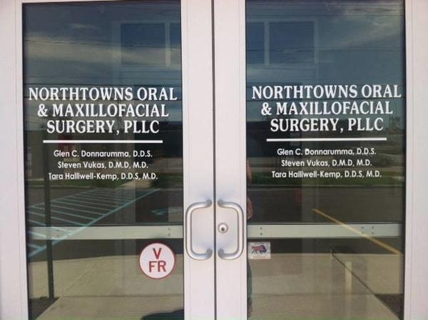 N-189 Northtowns Oral Door Graphic Exterior Signs Non Illuminated Signs Building Signs Tonawanda, NY Erie County, NY Medical