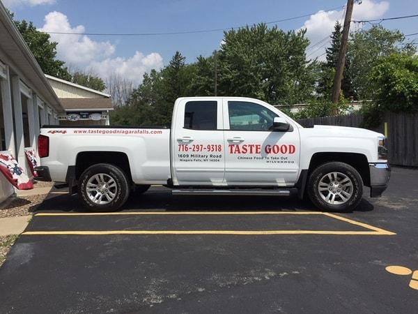 N-197 Taste Good Vehicle Graphic Vehicle Graphics Niagara Falls, NY Niagara county, NY business Restaurant