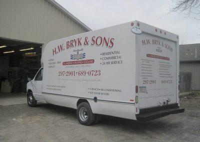 N-202 H. W. Bryk & Sons Vehicle Graphic Vehicle Graphics Niagara Falls, NY Niagara County, NY Business Plumbing