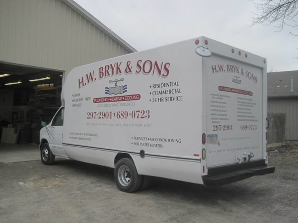 N-202 H. W. Bryk & Sons Vehicle Graphic Vehicle Graphics Niagara Falls, NY Niagara County, NY Business Plumbing