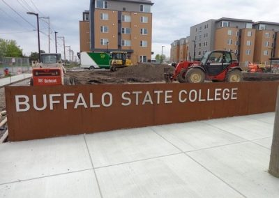 N-203 Buffalo State College aluminum Exterior Signs Non Illuminated Signs Dimensional Letters Buffalo, NY Erie County, NY Organization college