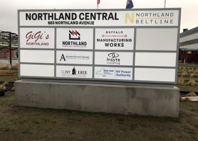 N-209 Northland Training Center aluminum Exterior Signs Non Illuminated Signs Monument Signs Buffalo, NY Erie County, NY Organization School