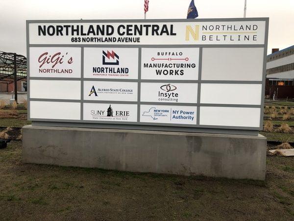 N-209 Northland Training Center aluminum Exterior Signs Non Illuminated Signs Monument Signs Buffalo, NY Erie County, NY Organization School