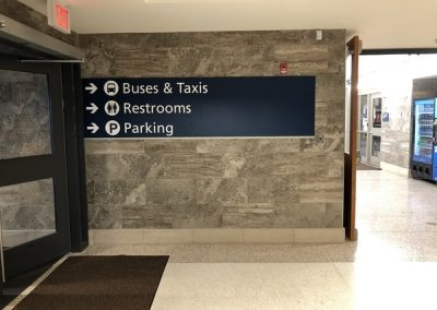 N-216 Amtrak aluminum Interior Signs Directories ADA and Wayfinding Schenectady, NY Government Transportation