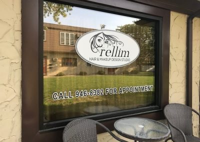 Digitally Printed Signs and Banner Rellim Hair Studio