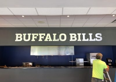 N-227 Buffalo Bills aluminum Interior Signs Dimensional Letters Orchard Park, NY Erie County, NY Business Sports