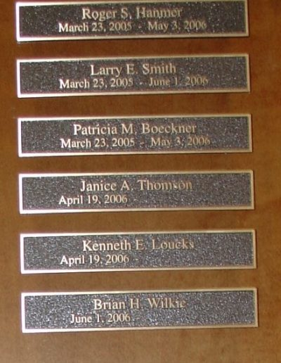 N-238 Niagara Falls Bridge Comm Bronze Interior Signs Cast and Etched Plaques Lewiston, New York Niagara County, NY Organization
