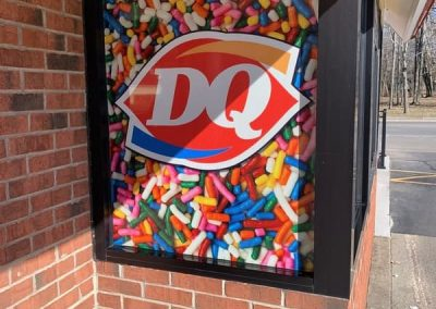 OPT vinyl graphics dairy queen DQ 2