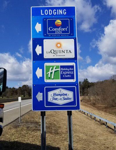 La Quinta Hotel aluminum Exterior Signs Non-Illuminated Traffic Sign I-86 Chautaqua, NY Chataqua County, NY business hotel