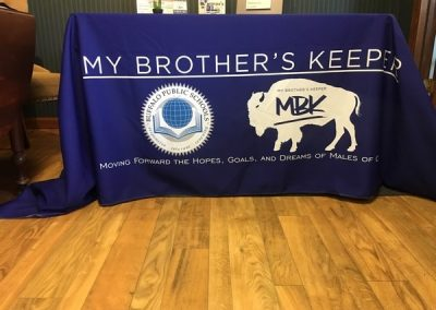 N-360 My Brother's Keeper custom flag Flagpoles & Custom Flags custom table banner