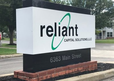 Granite monument sign reliant capital solutions