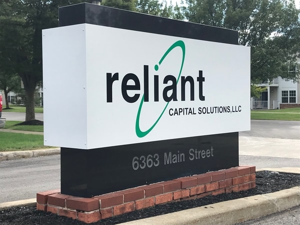 Granite monument sign reliant capital solutions